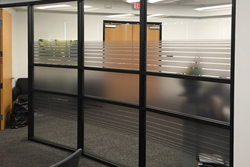 HDClear custom printed frost film saves time and money