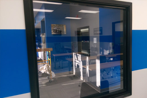 HDView custom printed one way vision window film