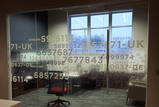 custom printed decorative window film from HDClear