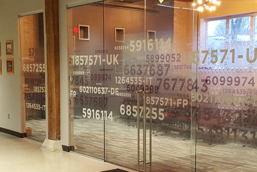 custom printed white ink fade on optically clear window film