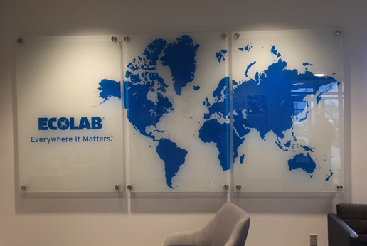 HDClear glass mounted signage